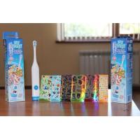 Детская автоматическая зубная щетка с наклейками (141 шт.)